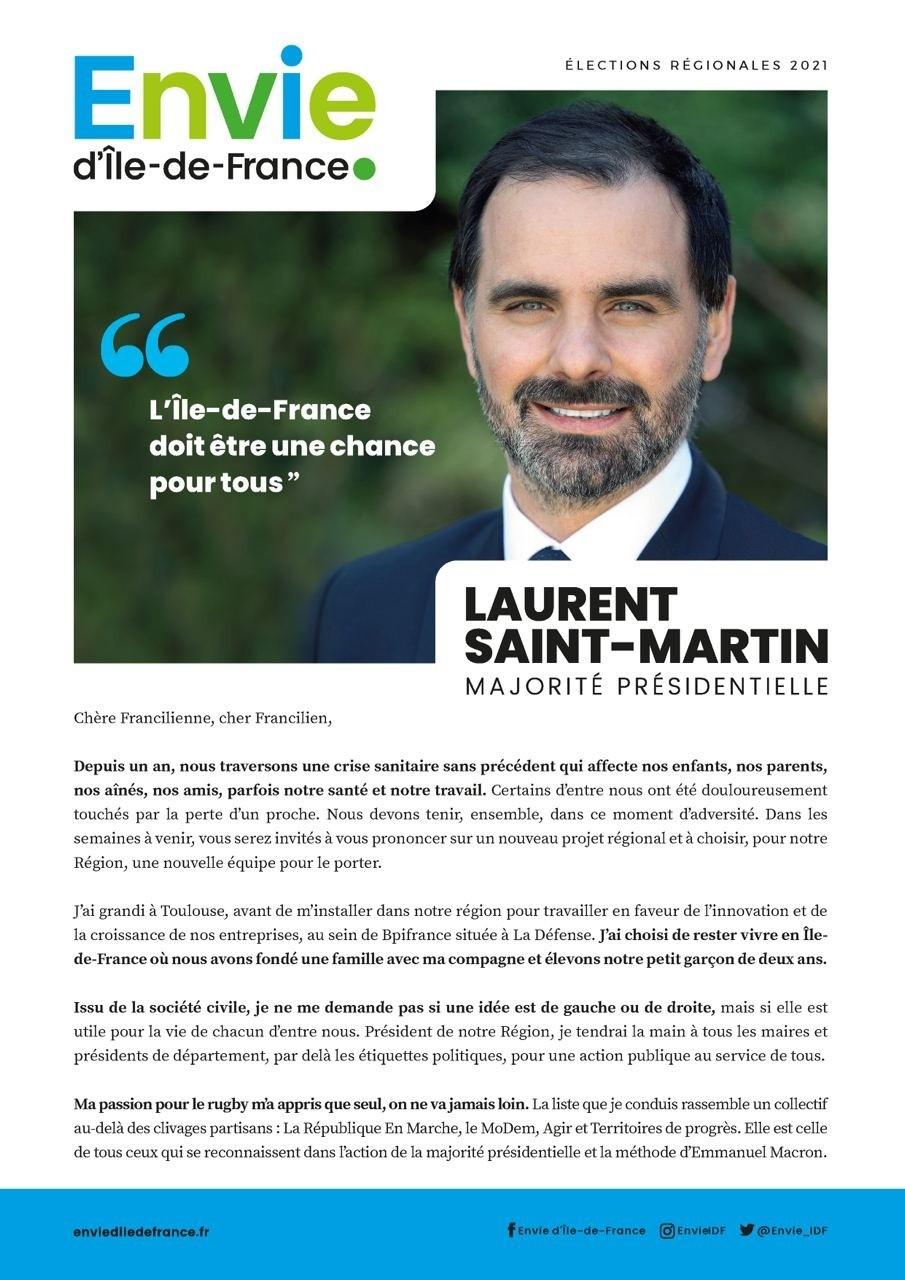 Lettre aux Franciliens