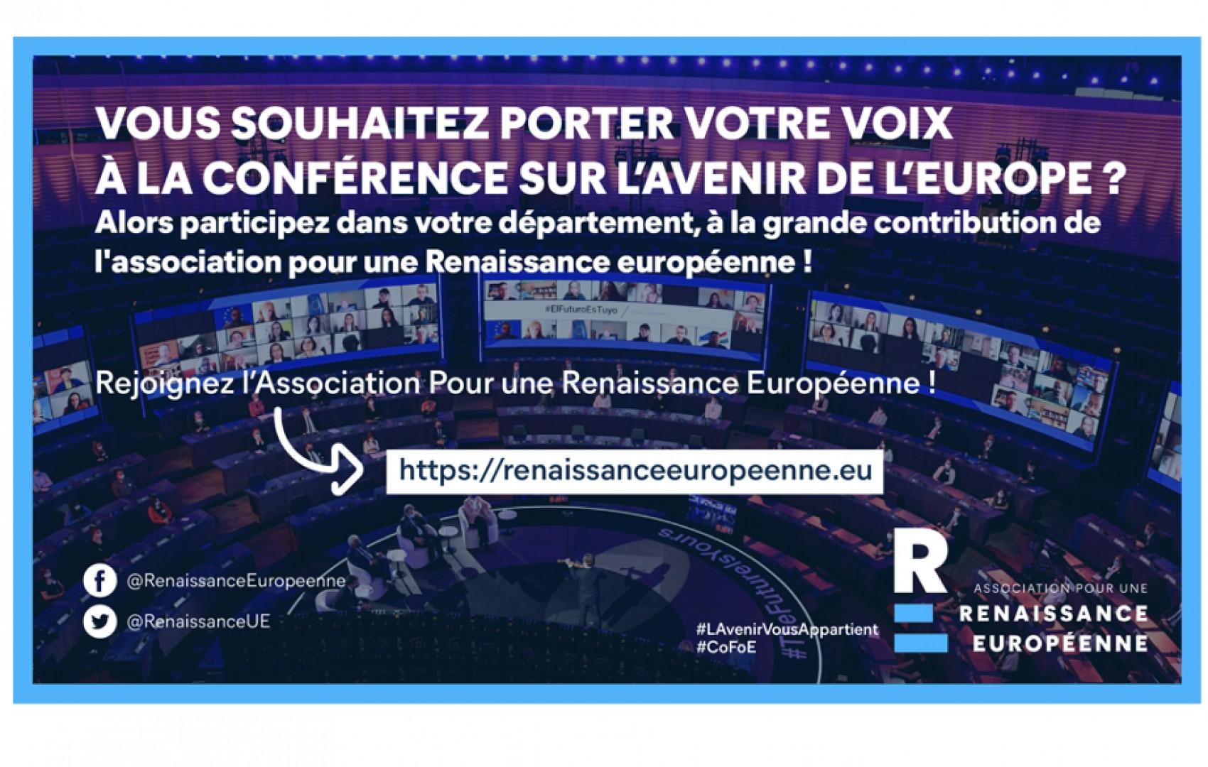 Contribution de l'association à la Conférence sur l'Avenir de l'Europe